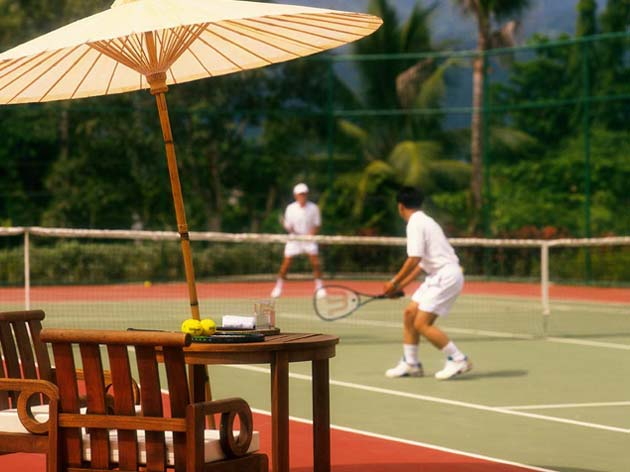 Chiang Mai House. Tennis matches at Four Seasons
